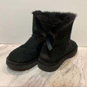UGG Women's Mini Bailey Bow II Black Boots